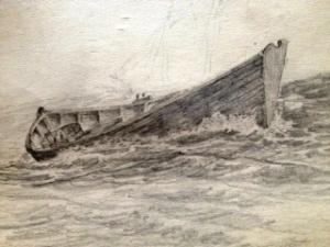 sketch boat